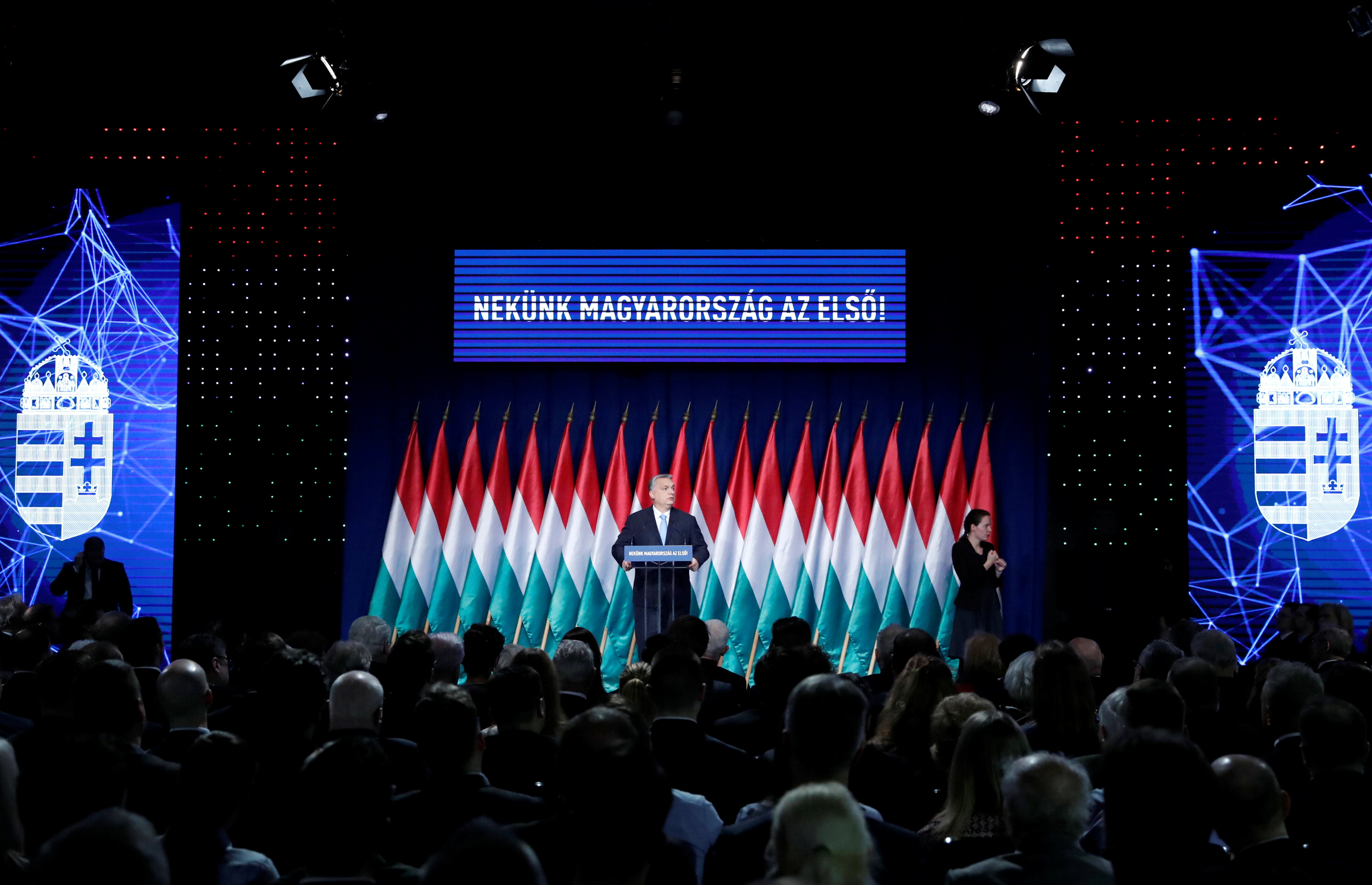 Hungarian Prime Minister Viktor Orban delivers his annual state of the nation speech