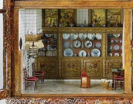 the kitchen of the Oortman dollhouse