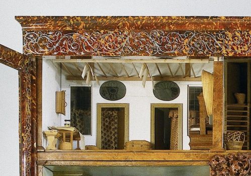 he laundry and linen room of the Oortman dollhouse.