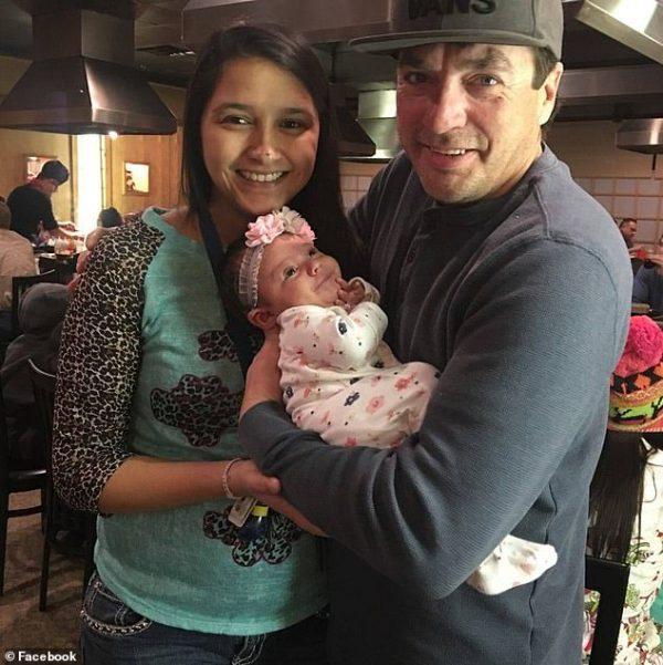 Ashley, Ranley and Randy at a restaurant