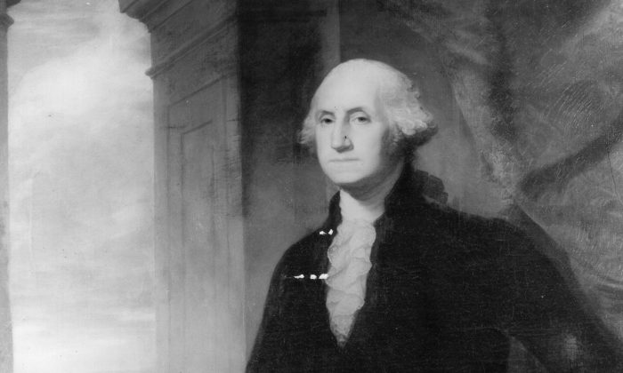 Photograph of a painting of George Washington (1732 - 1799). (Three Lions/Getty Images)