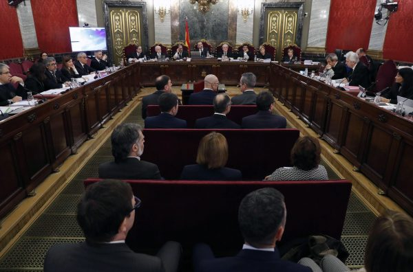 The trial of 12 Catalan separatist leaders at the Supreme Court
