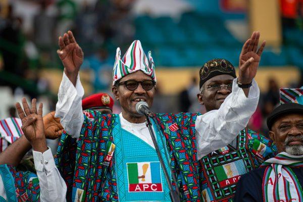 Nigeria's President Muhammadu Buhari of the ruling party All Progressive Congress (APC).