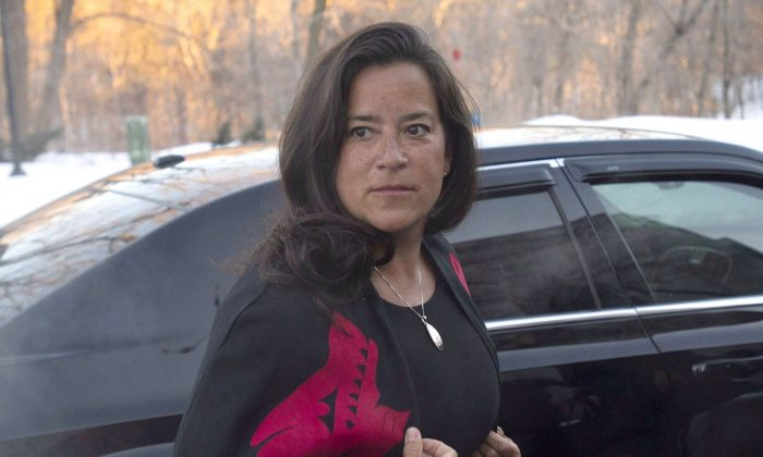 Jody Wilson-Raybould arrives at Rideau Hall in Ottawa on Jan. 14, 2019, as the governing Liberals shuffle their cabinet. The shuffle saw Wilson-Raybould moved from justice minister to Veteran's Affairs. She resigned from cabinet on Feb. 12. (The Canadian Press/Adrian Wyld)