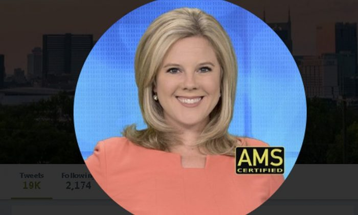 Fox17 meteorogist Katy Morgan was slammed for interrupting a TV show. (Twtter / Katy Morgan)