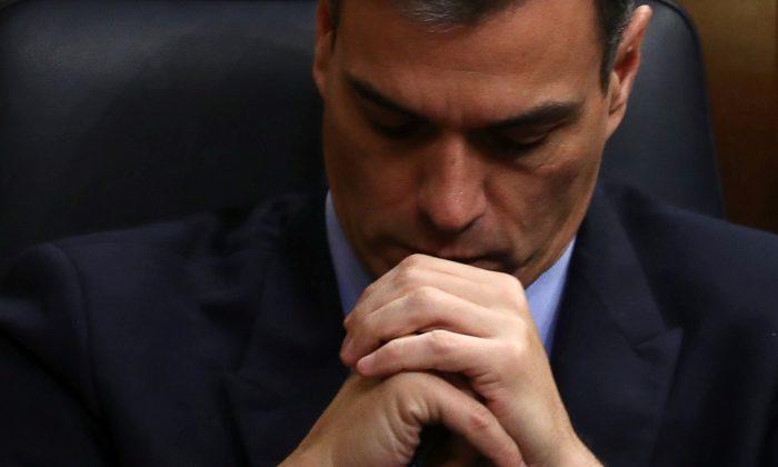 Spain's Prime Minister Pedro Sanchez in parliament in Madrid on Feb. 13, 2019. (Sergio Perez/Reuters)