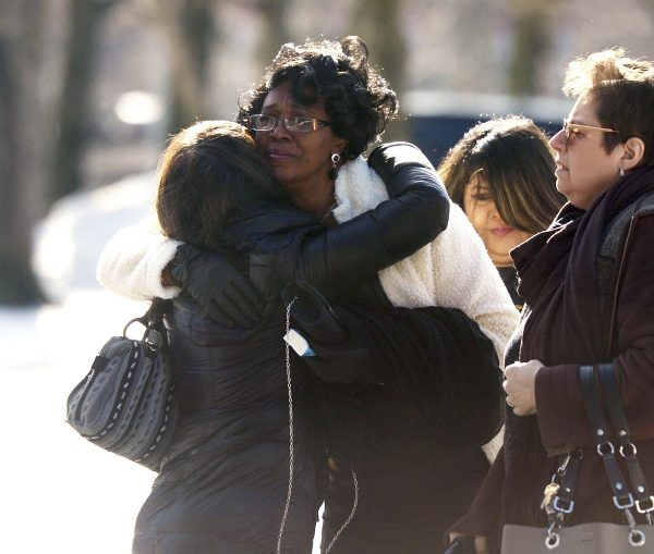 Friends and family of homicide victim Valerie Reyes attend her funeral