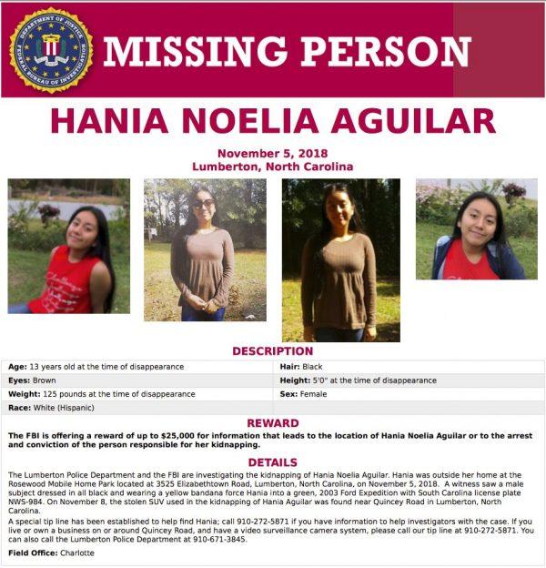Hania Aguilar kidnapped