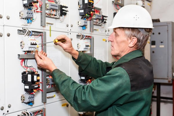Mature electrician