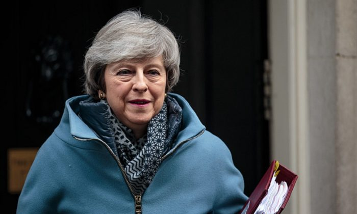 British Prime Minister Theresa May leaves Number 10 Downing Street for Prime Minister's Questions in Parliament in London, England,on February 13, 2019 . (Photo by Jack Taylor/Getty Images)