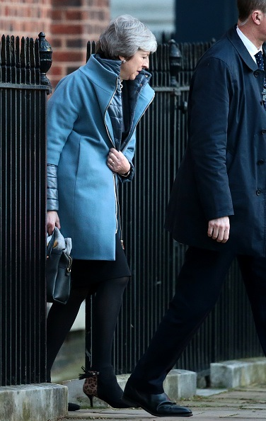 British Prime Minister Theresa May leaves 10 Downing Street