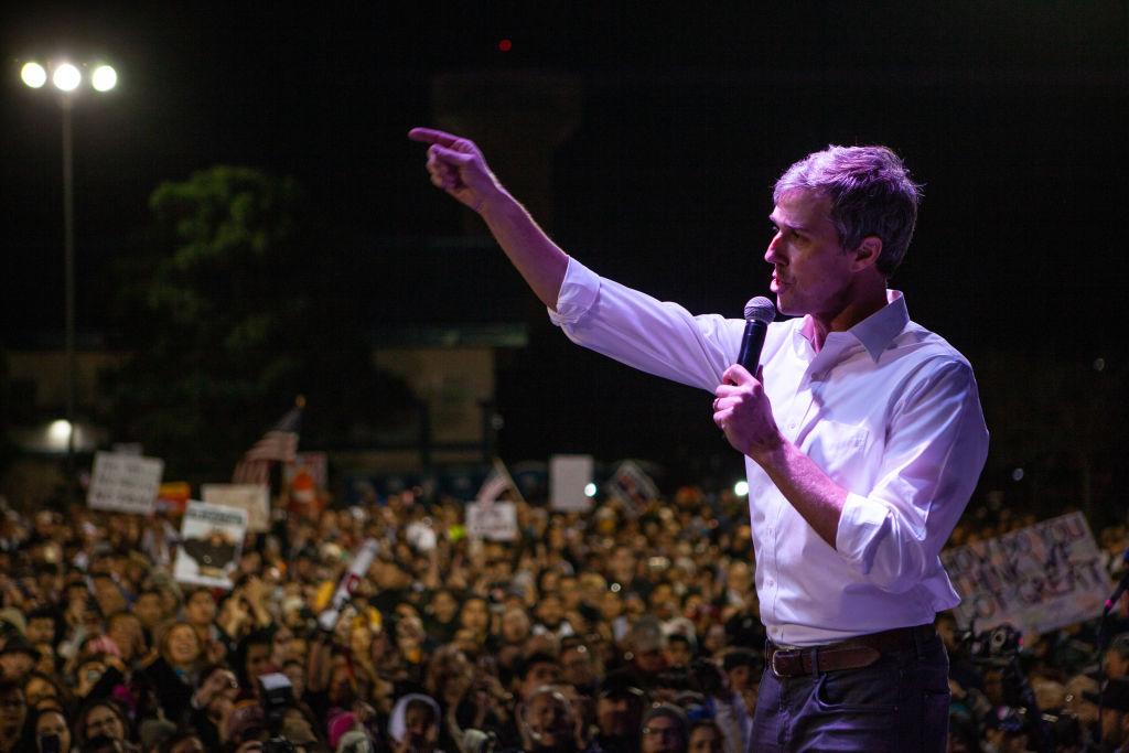 Beto O'Rourke at rally