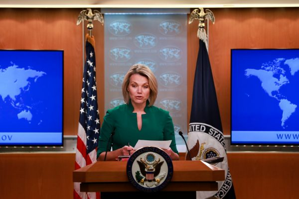 Heather Nauert holds press conference