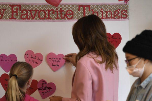 Melania Trump Valentines day