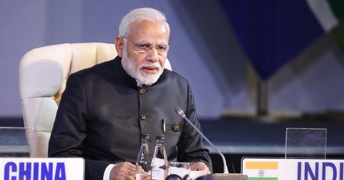 Indian Prime Minister Narendra Modi attends the 10th BRICS summit
