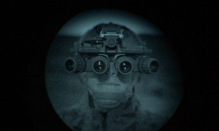 U.S. Marines test night optics during Advanced Naval Technology Exercise 2018 (ANTX-18) at Marine Corps Base Camp Pendleton, California on March 20, 2018. (U.S. Marine Corps/Lance Cpl. Rhita Daniel/Handout via Reuters)