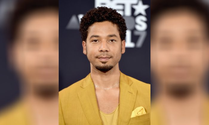 Jussie Smollett poses in the press room at the 2017 BET Awards at Microsoft Theater on Jun. 25, 2017 in Los Angeles, Calif. (Alberto E. Rodriguez/Getty Images for BET)