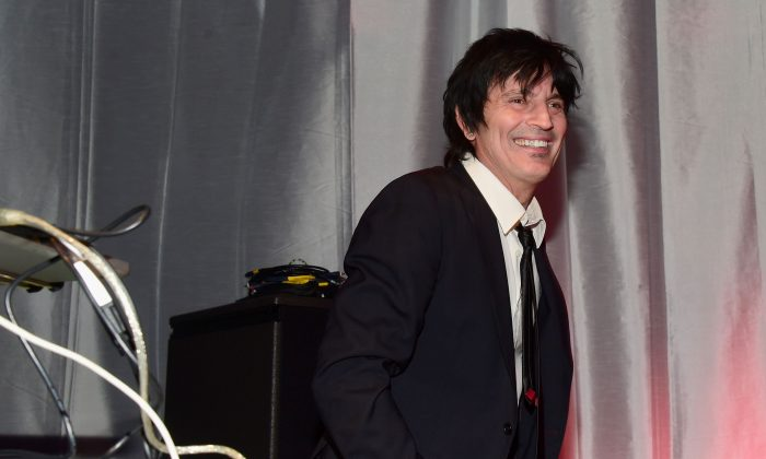 Tommy Lee performs onstage during Glazer Palooza and Suits and Sneakers in San Francisco, Calif., on Feb. 3, 2016. (Frazer Harrison/Getty Images for Glazer Palooza)