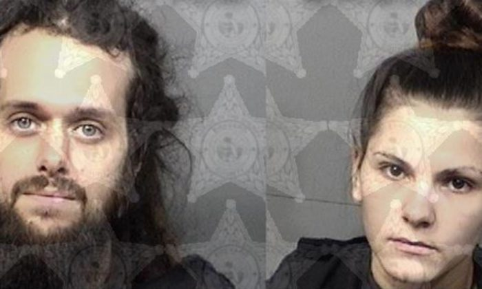 Robert Buskey, 31, and Julia French, 20, were arrested by Florida police officers after doctors informed them that their 5-month-old son was severely malnourished. (Brevard County Sheriff's Office)