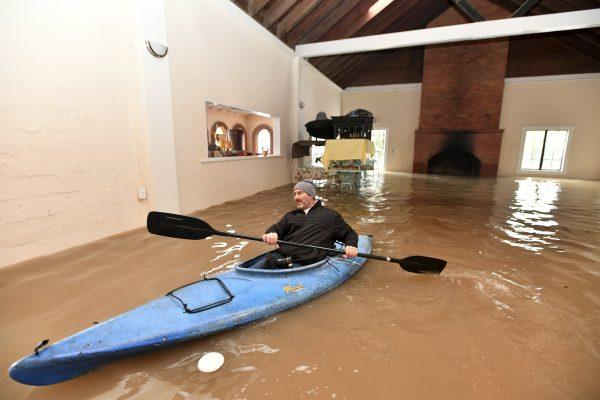 Michael Tucker flooded area