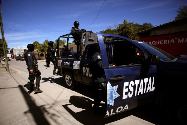 State police patrol ahead of the visit of Mexico's President Andres Manuel Lopez Obrador to Badiraguato