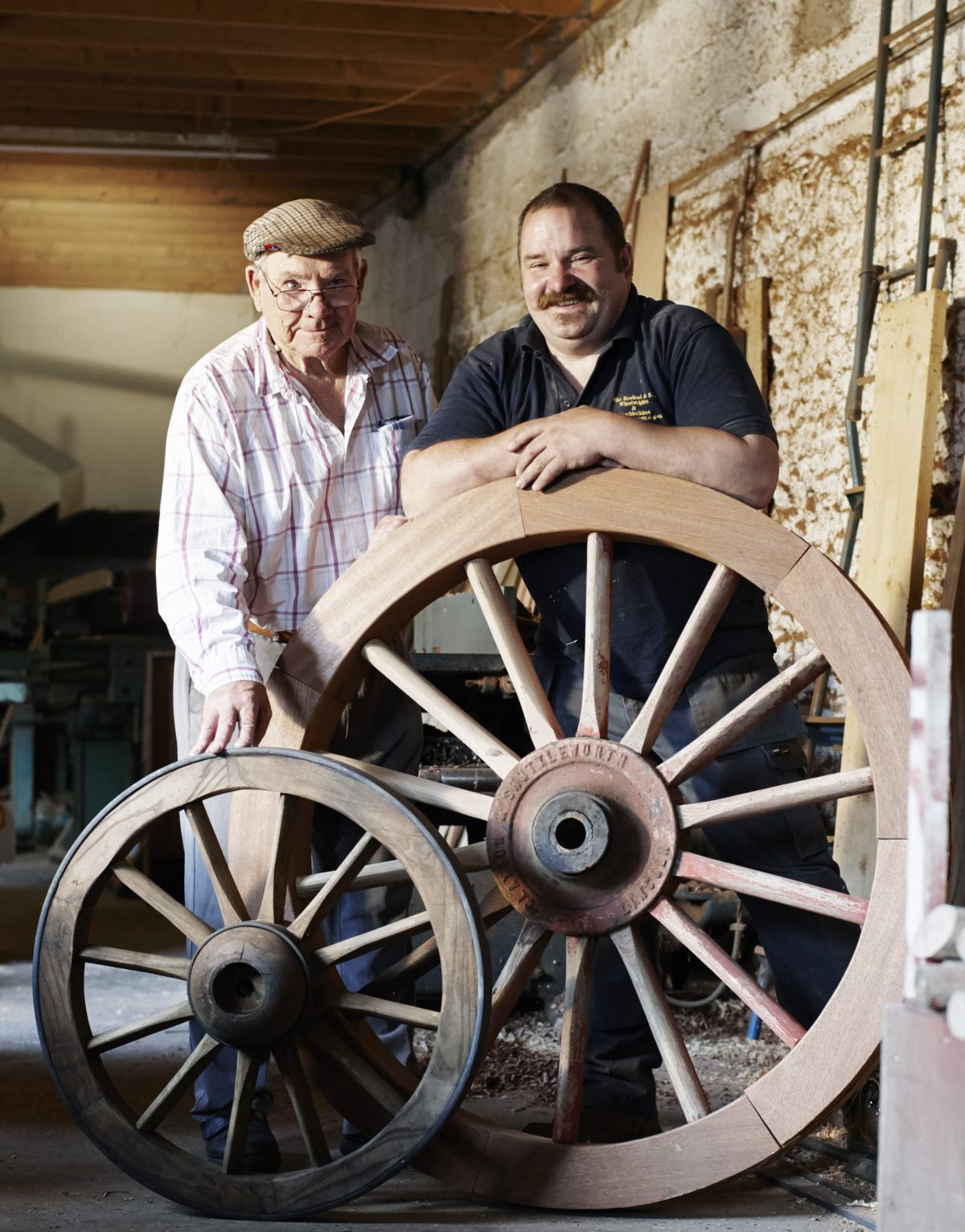 Father and son and carts wheels