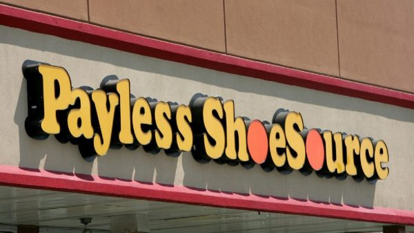 A Payless store front is seen in Philadelphia
