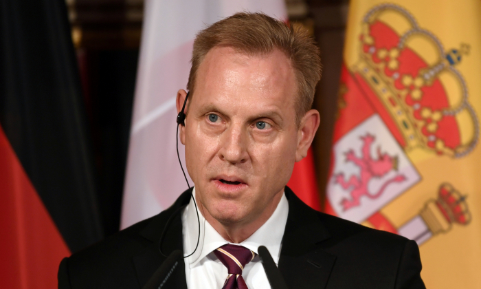 Secretary of Defense Patrick Shanahan speaks at the annual Munich Security Conference in Munich, Germany Feb. 15, 2019. (Andreas Gebert/Reuters)