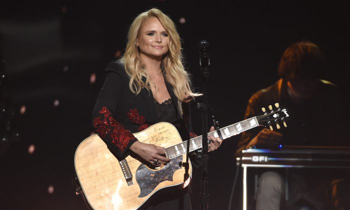 "Miranda Lambert performs ""Keeper of the Flame"" at the 53rd annual Academy of Country Music Awards at the MGM Grand Garden Arena in Las Vegas on April 15, 2018. (Chris Pizzello/Invision/AP, File)"