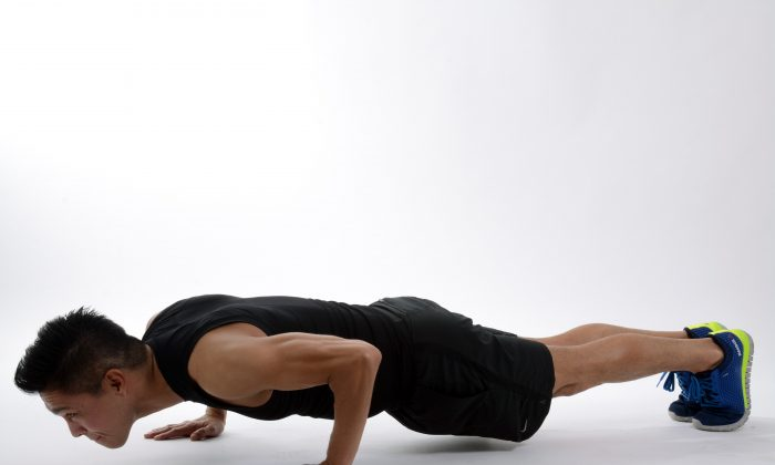 Push-ups can provide a quick way to assess overall physical fitness and identify the possible risk of heart disease. (Pexels)