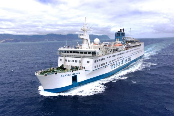 Mercy Ships at sea