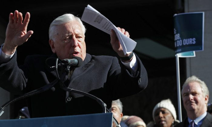 House Majority Leader Steny Hoyer (D-Md.) speaks in Washington on Jan. 10, 2019. Chip Somodevilla/Getty Images