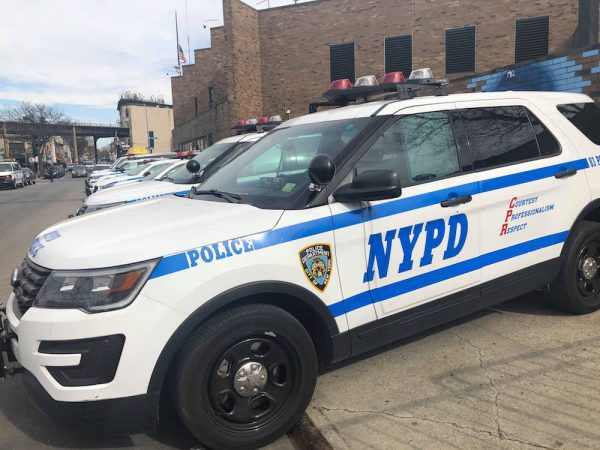 NYPD police cop car stock