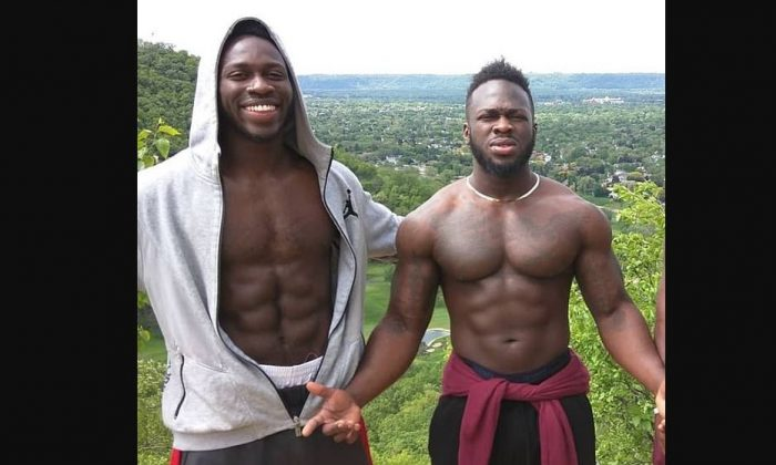 "Abel Osundairo (L), and his brother Ola Osundairo, in a file photo. The Nigerian brothers were arrested in connection with the alleged attack on ""Empire"" actor Jussie Smollett but were released after reportedly telling detectives Smollett paid them to stage the attack. (Team Abel/Instagram)"