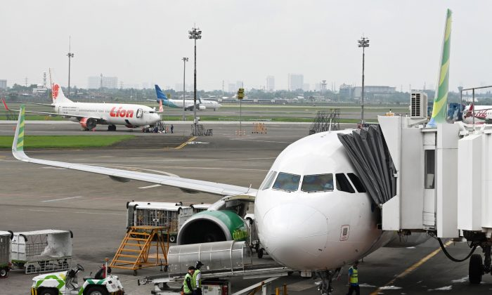 Planes at Sukarno-Hatta International Airport in Tangeran, Jakarta, on Nov. 27, 2018. (Adek Berry/AFP/Getty Images)