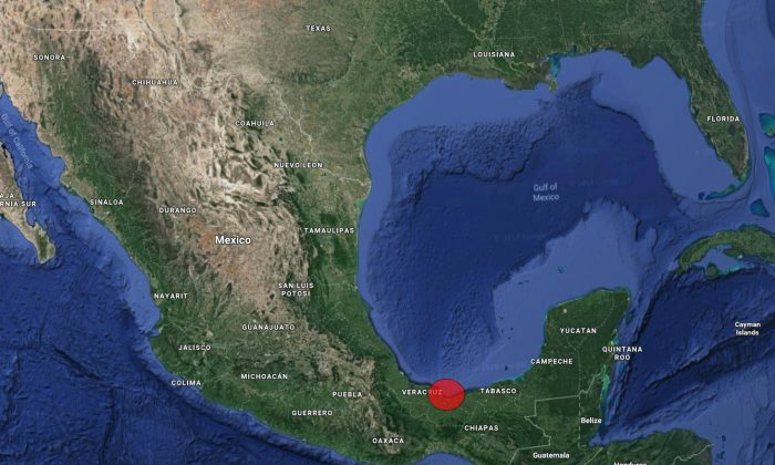 The city of Coatzacoalcos in Mexico is marked on a map. (Screenshot/Googlemaps)