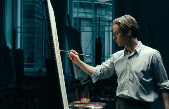 Artist Kurt at work in Never Look Away