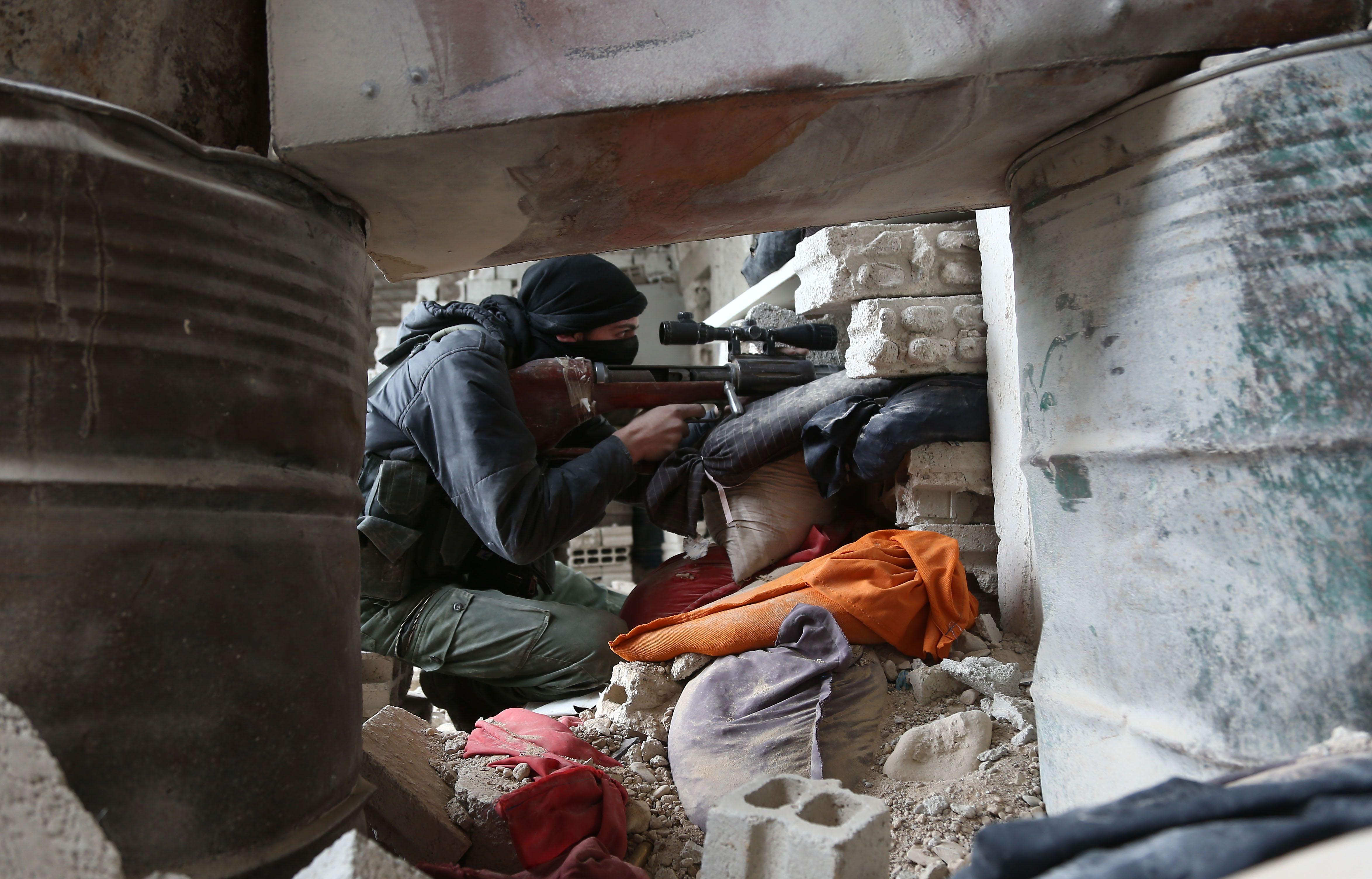 a sniper in Syria