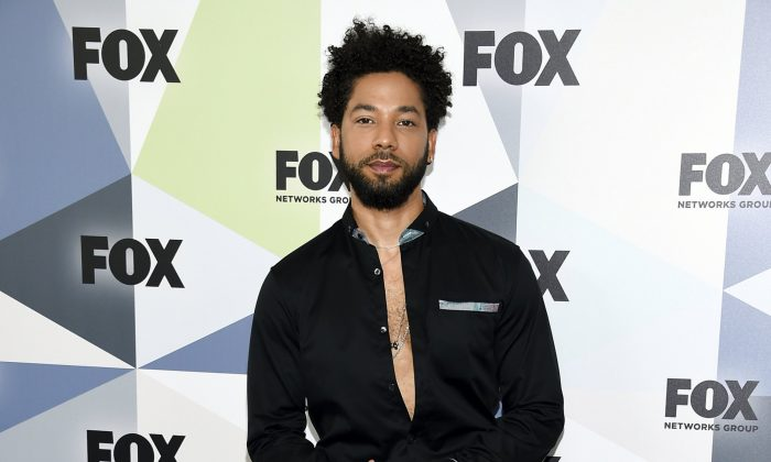 Actor and singer Jussie Smollett attends the Fox Networks Group 2018 programming presentation after party at Wollman Rink in Central Park in New York, on May 14, 2018. (Evan Agostini/Invision/AP, File)