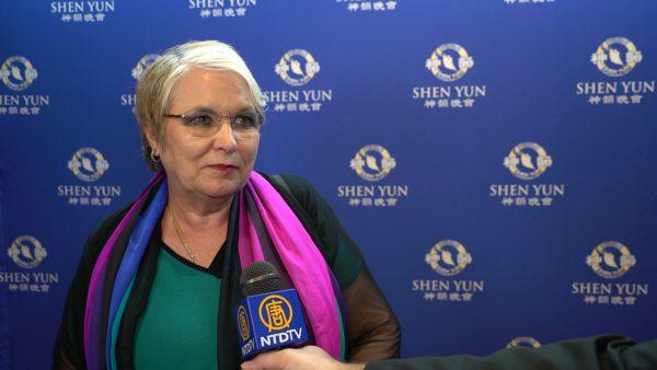 Belmont Business Enterprise Centre CEO Carol Hanlon at Shen Yun in Perth, Western Australia, on Feb. 19, 2019. (NTD)
