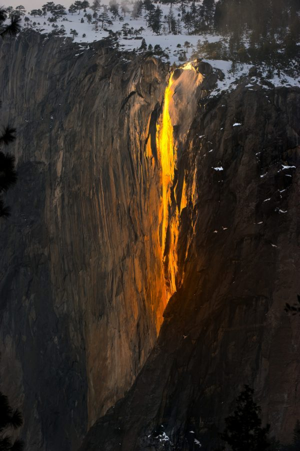 Firefall in Yosemite National park-600x902