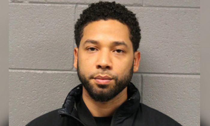 Jussie Smollett in a Feb. 21, 2019, mugshot. (Chicago Police Department via AP)