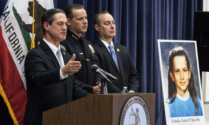 Orange County District Attorney Todd Spitzer speaks during a news conference at the OCDA's office in Santa Ana, Calif., on Feb. 20, 2019. (Paul Bersebach/The Orange County Register via AP)