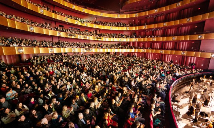 Audience members at a Shen Yun Performing Arts performance at Lincoln Center in New York City on Jan. 13, 2019. (The Epoch Times)