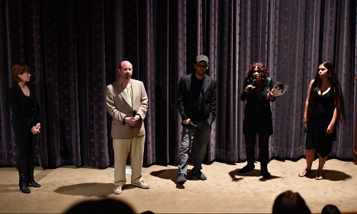 """Scientist Michael Mann, second from left, attends the New York screening of the HBO Documentary """"How To Let Go Of The World And All The Things Climate Can't Change"""" on June 21, 2016 in New York City.  (Slaven Vlasic/Getty Images for HBO)"""