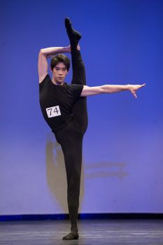 dancer Piotr Huang-in competition