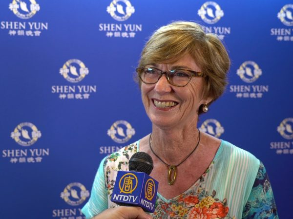 Former medical orthopedics secretary Pat Timms saw Shen Yun in Perth's Regal Theatre, Western Australia, on Feb. 20, 2019. (Victor Bernal/NTD Television)