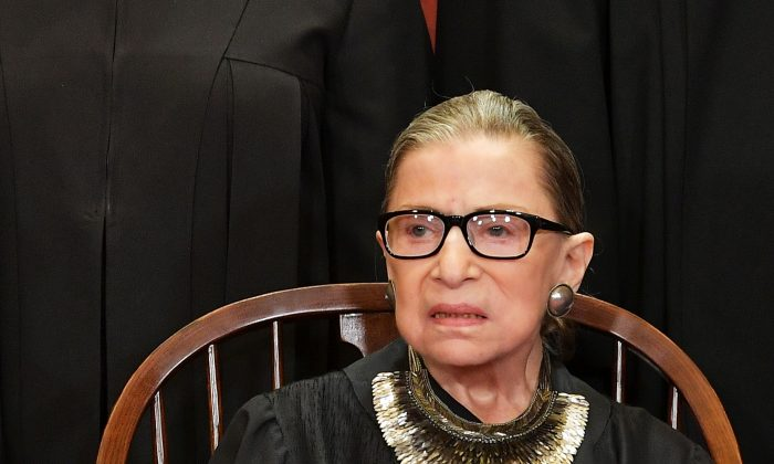 Associate Justice Ruth Bader Ginsburg at the Supreme Court in Washington, DC on Nov. 30, 2018. (MANDEL NGAN/AFP/Getty Images)
