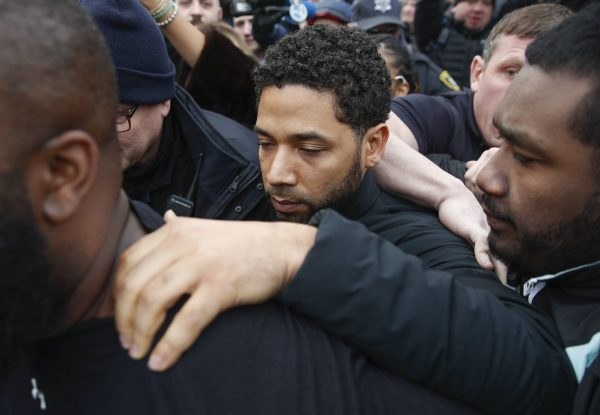 """Empire"" actor Jussie Smollett leaves Cook County jail"