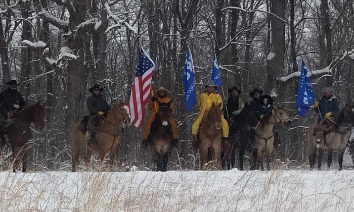 Cowboys for Trump rode from Cumberland, Md. to Washington to support President Trump and border security, as well as defending life and the second amendment. (Cowboys for Trump/Shawn Cummings/Facebook)